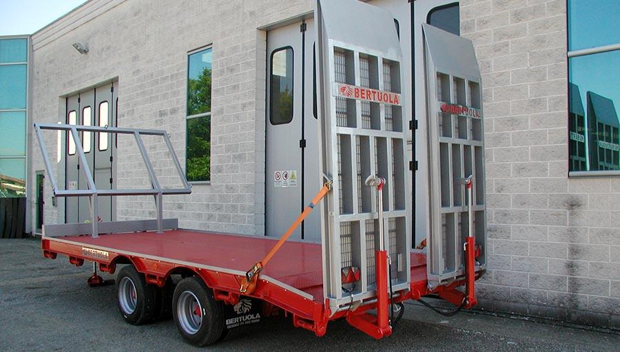 carrellone agricolo 2 assi usato dispositivo arresto
